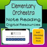 Elementary Orchestra - Note Reading Google Slides Activity