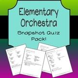 Elementary Orchestra Snapshot Quiz Bundle