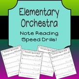 Elementary Orchestra Speed Drills