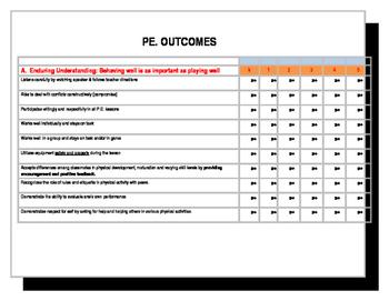 Elementary P.E. OUTCOMES
