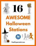 Elementary PE Lesson - 16 Printable Halloween Themed Activ