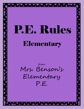 Elementary PE Rules