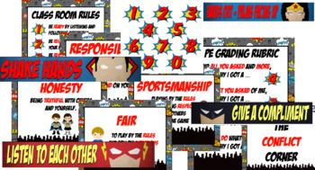 Elementary PE Superhero Pack