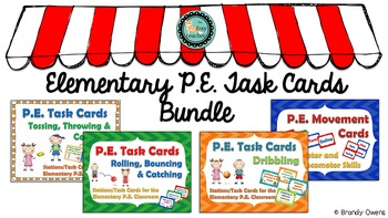 Elementary P.E. Task Cards Bundle