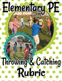 Elementary PE Throwing and Catching Rubric - Fully Editabl