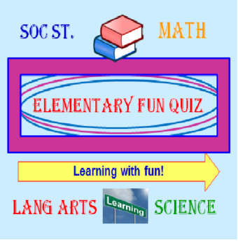 Elementary POWERPOINT Fun Quiz (Self-Correcting) (28 Questions)