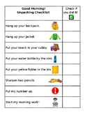 Elementary Packing & Unpacking Checklist (Editable)