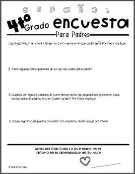 Elementary Parent Feedback Survey