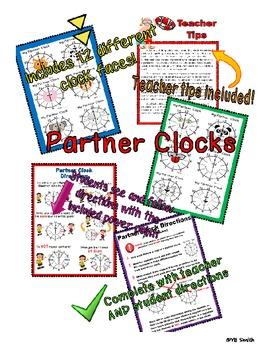 Partner Clocks for Pair Work ELEMENTARY