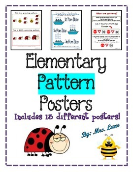 Elementary Pattern Posters