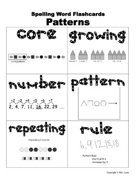 Elementary Pattern Spelling Resources