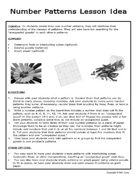 Elementary Pattern Teaching Tips