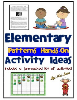Elementary Patterns Hands-On Activity Ideas