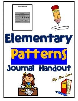 Elementary Patterns Journal Handout