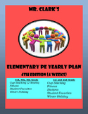 Elementary Physical Education Lesson Plans 2015-2016 4th Edition