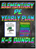Elementary Physical Education Yearly Plan 1 and 7 Bundled Curriculum
