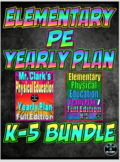 Elementary Physical Education Yearly Plan 3 and 7 Bundled Curriculum