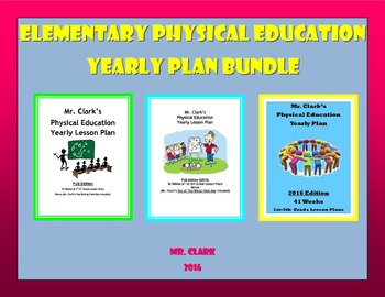 Physical Education Yearly Plans 1,2, and 3 Bundle w/ Field Days