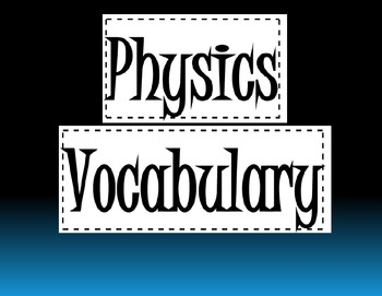 Elementary Physics Vocabulary Slide Show