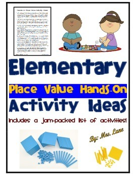 Elementary Place Value Hands-On Activity Ideas