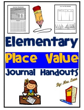 Elementary Place Value Journal Handouts