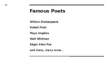 Elementary Poetry Introduction