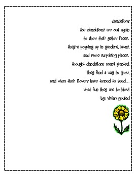 Elementary Poetry Pages Collection