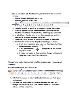 Elementary PowerPoint Instructions