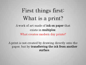 Elementary Printmaking Presentation