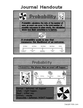 Elementary Probability Journal Handouts