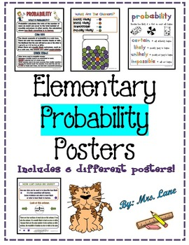 Elementary Probability Posters (Includes 6 Different Posters!)