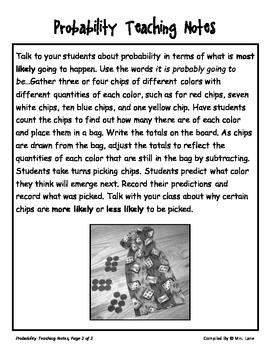 Elementary Probability Teaching Tips