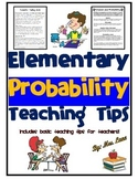 Elementary Probability Teaching Tips