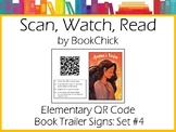 Elementary QR Code Book Trailer Signs Set #4