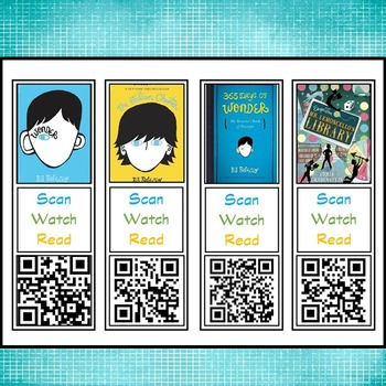Elementary QR Code Bookmark Book Trailers Set #2