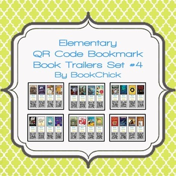 Elementary QR Code Bookmark Book Trailers Set #4