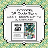 Elementary QR Code Book Trailer Signs Set #2