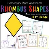 Elementary RHOMBUS Shape Worksheets