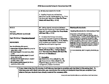 Elementary Read 180 Pacing Guide (Year 1)