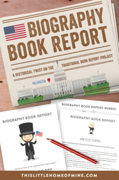 Elementary Reading & Social Studies - Biography Book Report Project
