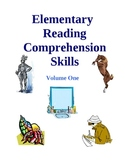 Elementary Reading Comprehension Skills - Volume One, Activities and Worksheets