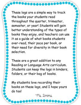 Elementary Reading Log
