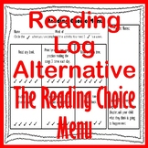 Elementary Reading Log Alternative - The Reading Choice Menu Reading Homework