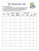 Elementary Reading Log Pack K-6