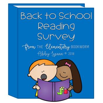 Back to School Student Reading Survey {FREEBIE}