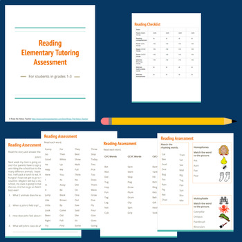 Elementary Reading - Tutoring Assessment Tool