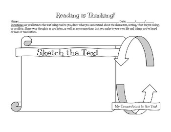 "Elementary ""Reading is Thinking"" Graphic Organizer"