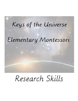 Elementary Research Skills Packet - Montessori and More