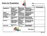 Elementary Rubric for Presentations