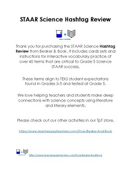 Elementary STAAR Science Hashtag Review